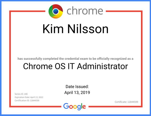 Chrome OS It Administrator